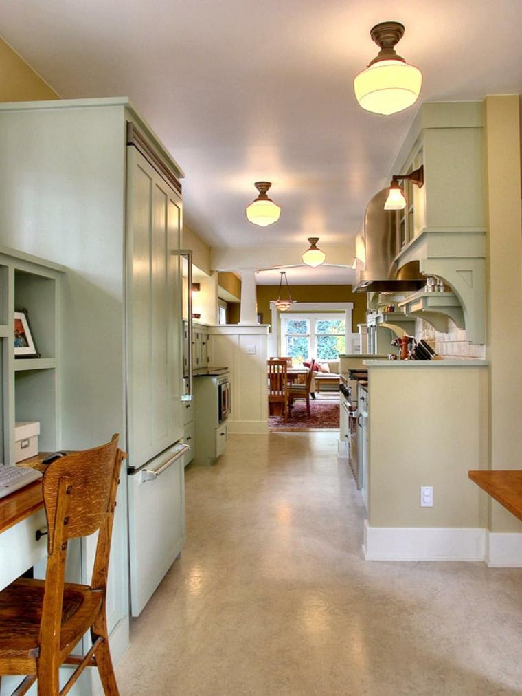cocina retro muebles verdes