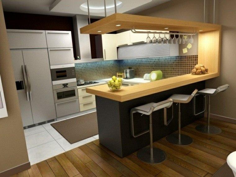 cocina bar diseño moderno