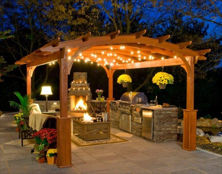 cocina decorado exteriores fresco lamparas