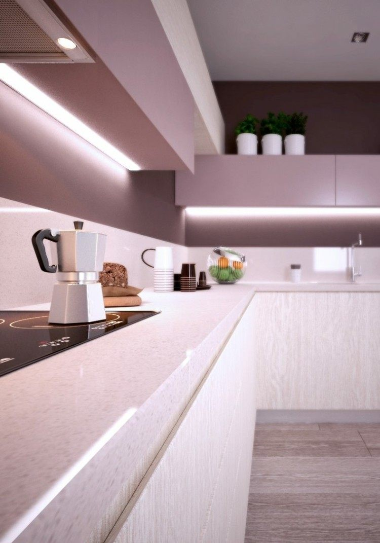 cocina diseño moderno luces