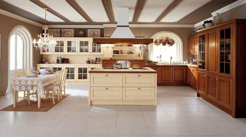 cocina amplia muebles madera isal