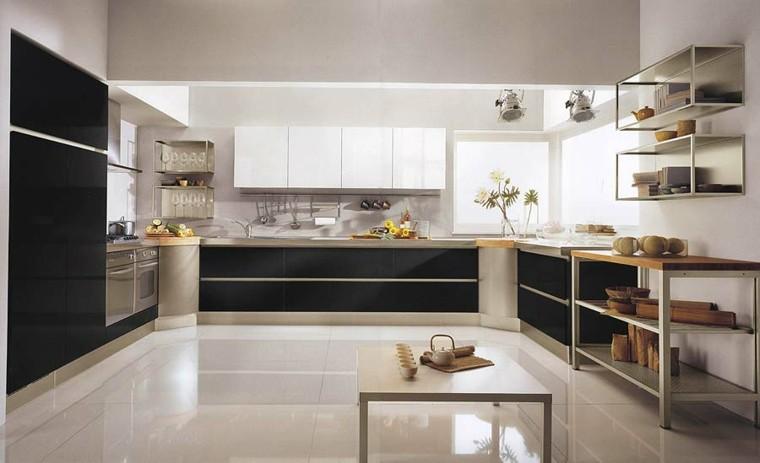 diseño cocina gnande muebles negros