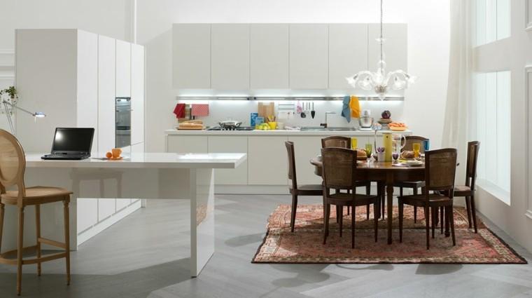 cocina moderna alfombra vintage muebles madera ideas