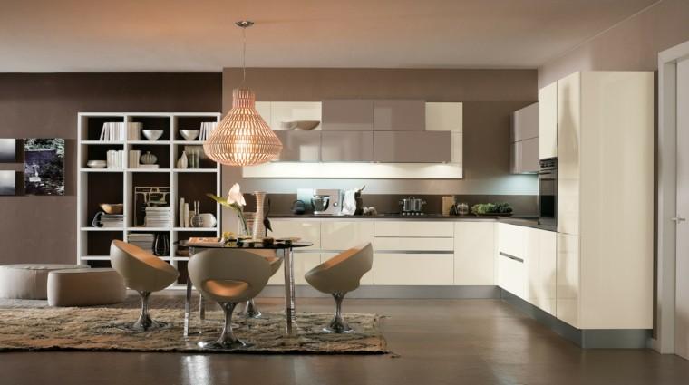 muebles cuero cocina con comedor ideas