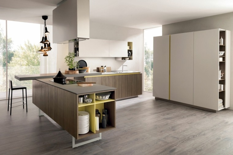 Cocinas modernas completamente equipadas for Cocinas grandes modernas