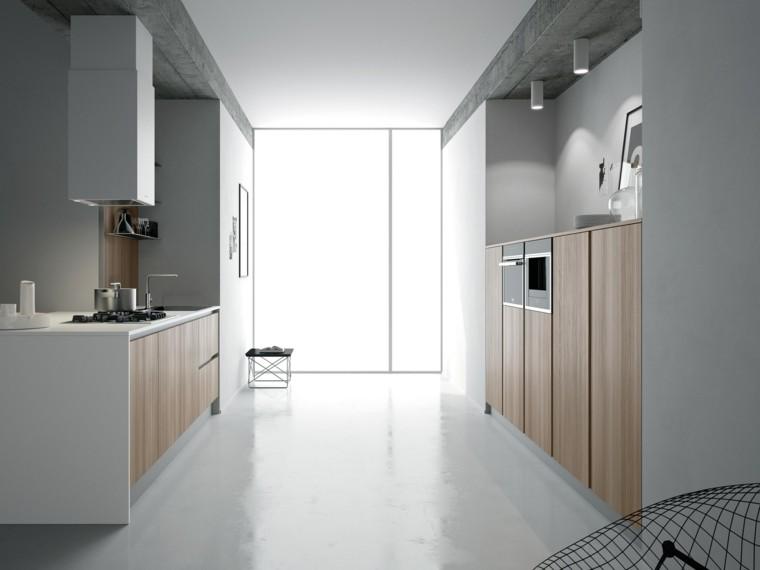 cocina moderna armarios madera ideas