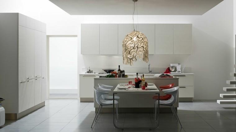 cocinas modernas blanca amplia preciosa ideas