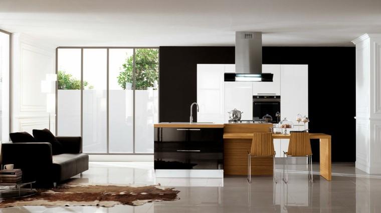 cocinas modernas color negro brillante ideas