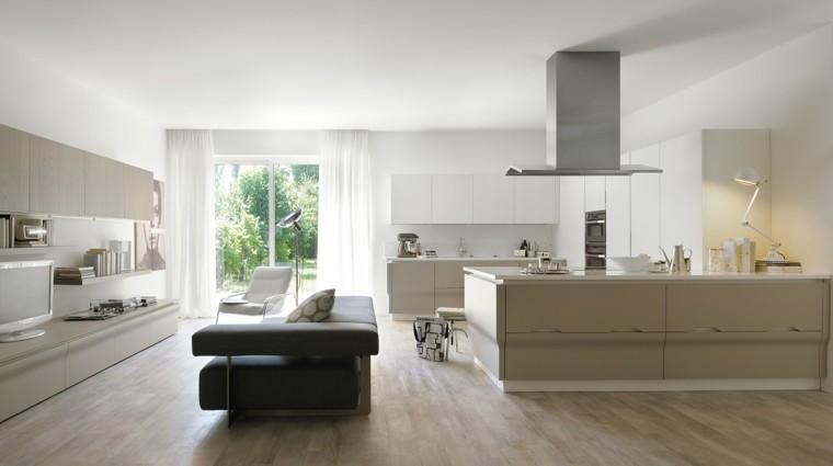 cocina moderna gris beige salon ideas