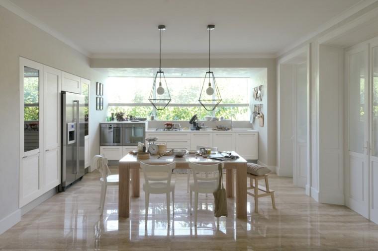 cocina moderna mesa madera grande ideas