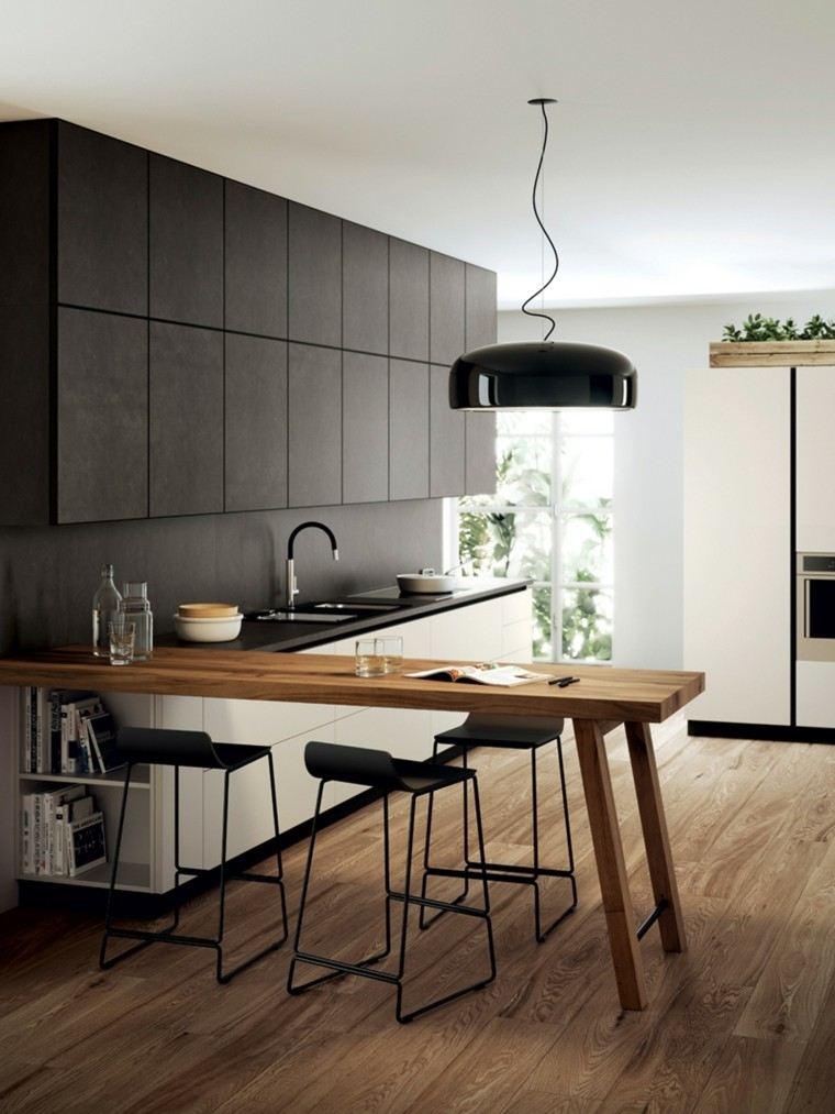Cocinas modernas completamente equipadas for Mesa cocina moderna