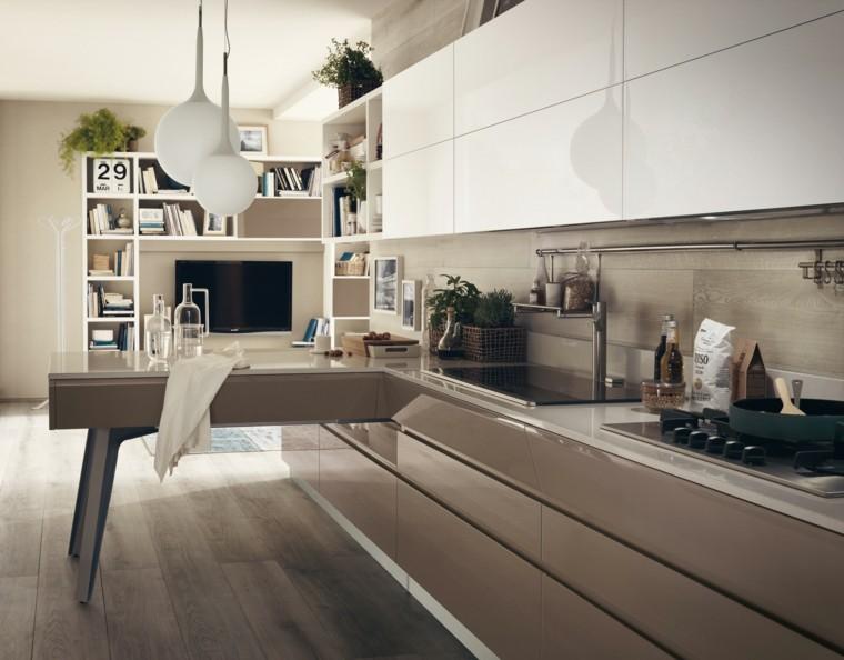 cocina moderna mesa original ideas