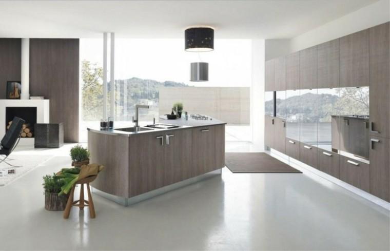 cocina muebles modernos color gris
