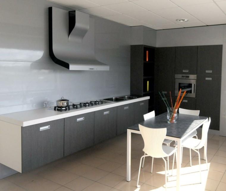 cocina pequeña comedor color gris