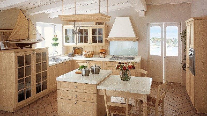 cocina decoracion nautica muebles de madera ideas