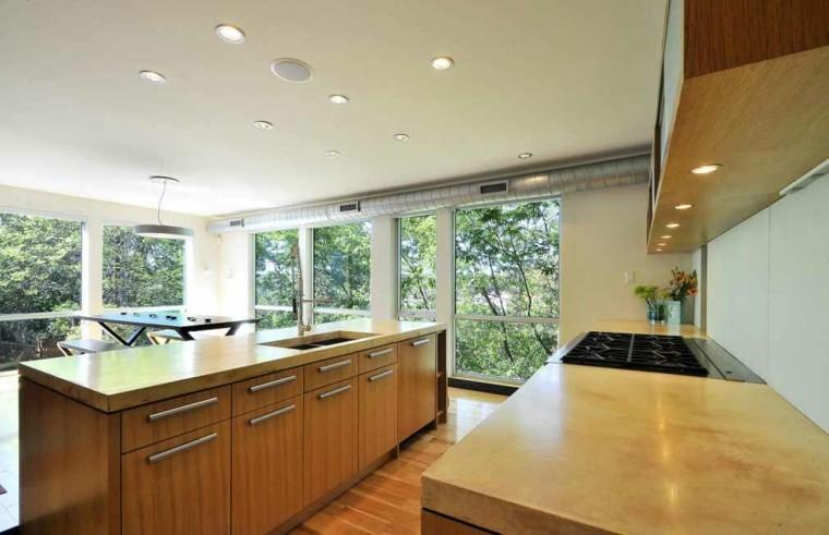 cocina estilo minimalista muebles madera