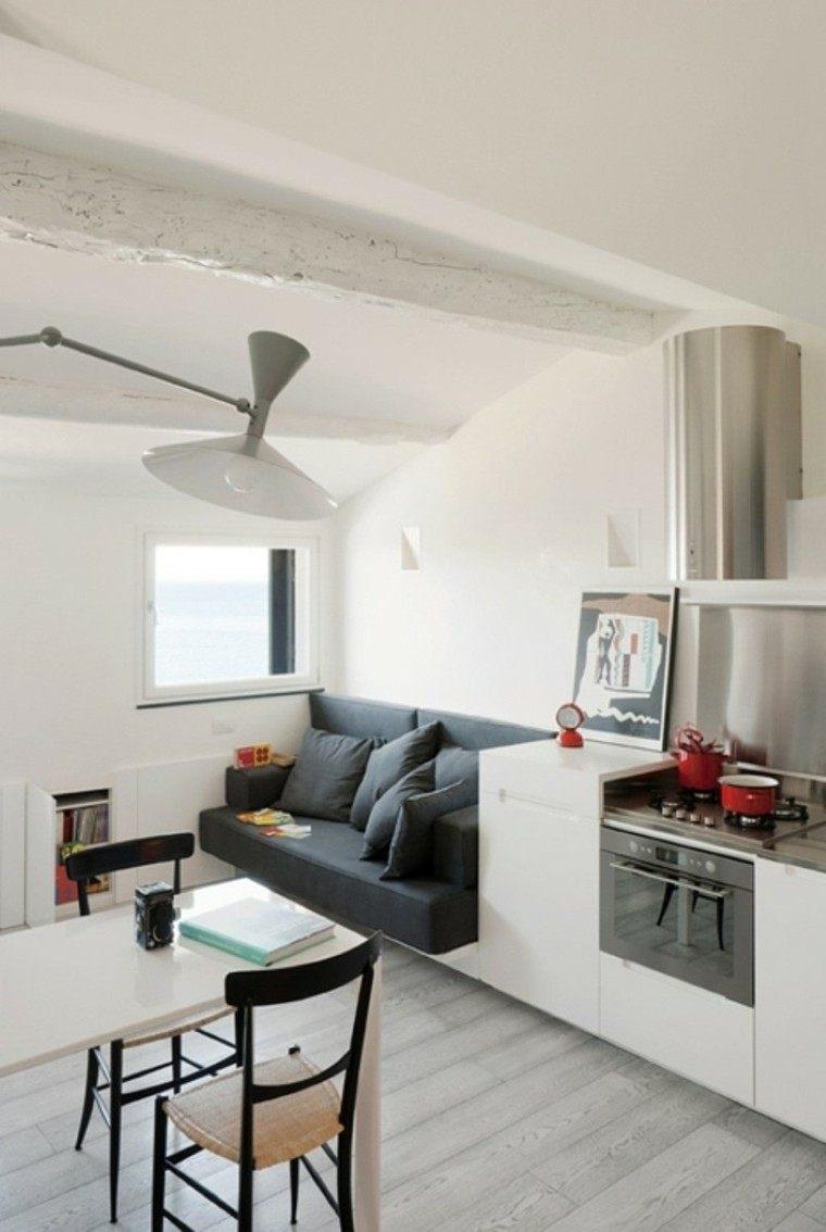 Cocina Peque A Con Mucho Estilo 38 Ideas ~ Cocinas Pequeñas Para Apartamentos