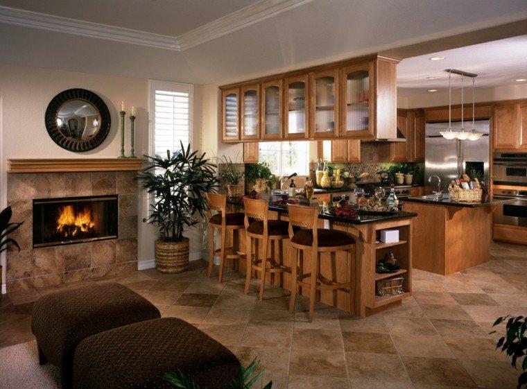 Cocinas con estilo dise o y elegancia notable for Cocinas con chimenea