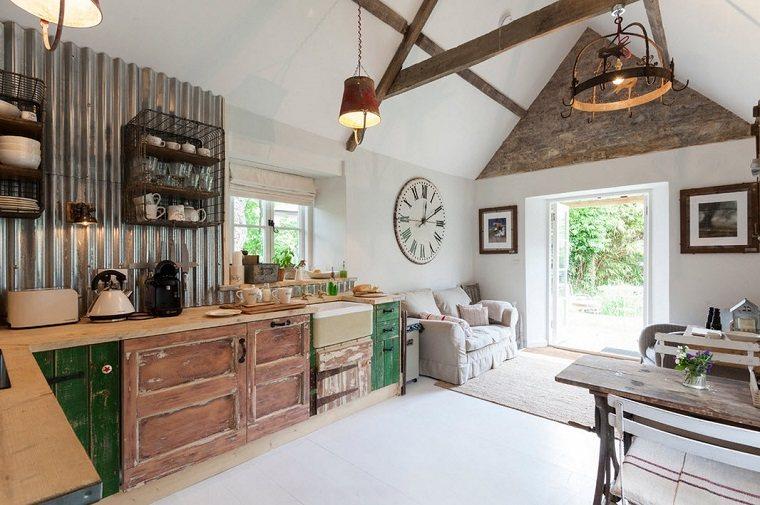Shabby chic cocinas elegantes para personalizar tu hogar - Decoracion rustica chic ...