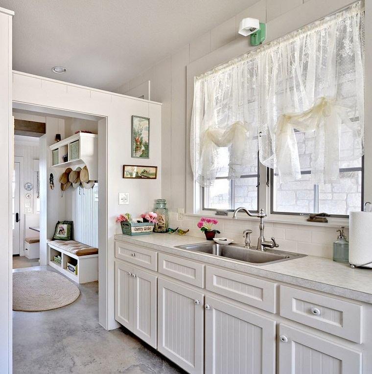 Shabby chic cocinas elegantes para personalizar tu hogar - Decoracion cortinas cocina ...