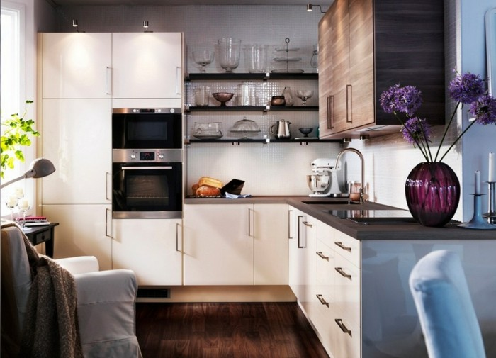 in l shaped kitchen simple cabinets cocinas peque 241 as ideas interesantes de dise 241 o 17814