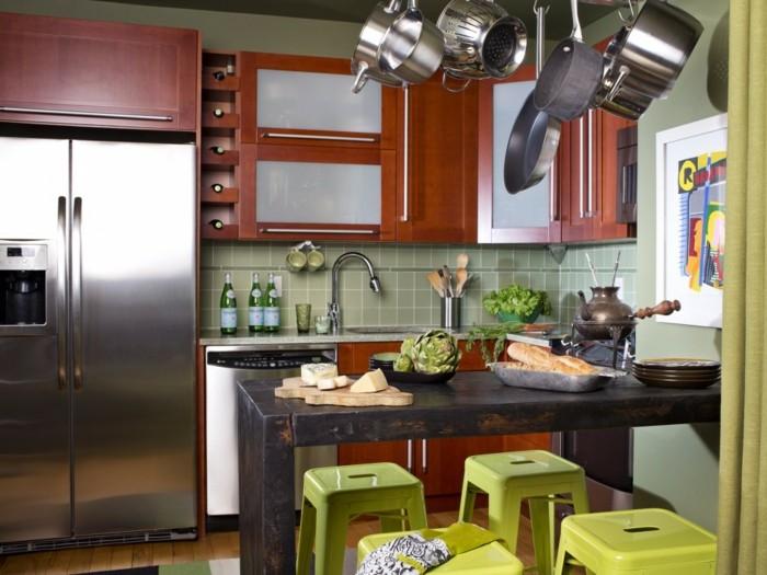cocinas pequenas ideas muebles cerezo moderna