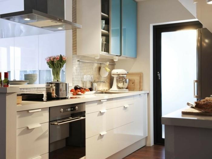 cocinas pequenas muebles preciosos blancos ideas