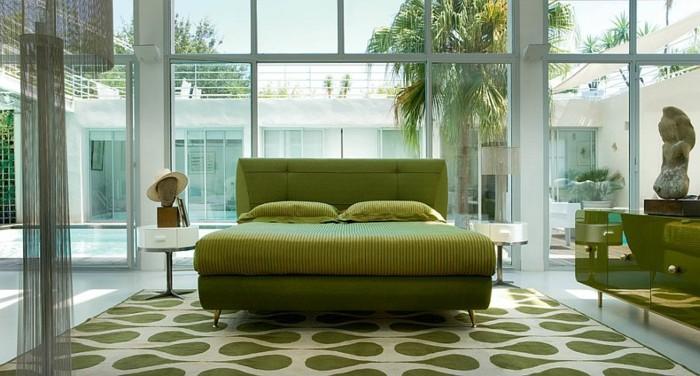 color para dormitorio cama accesorios ideas
