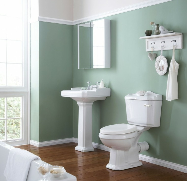 color pared baño estilo retro
