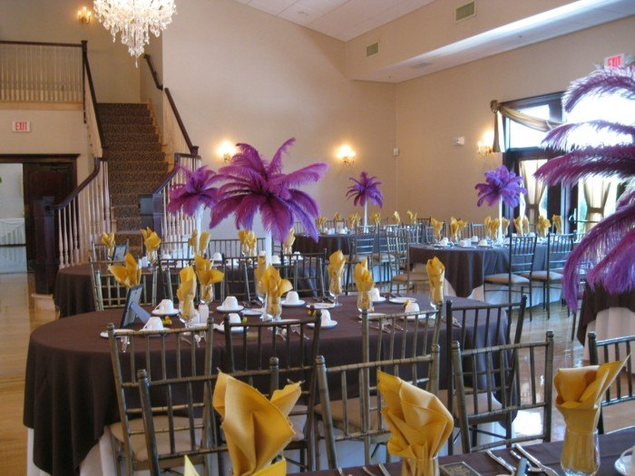 color purpura centro mesa color purpura ideas