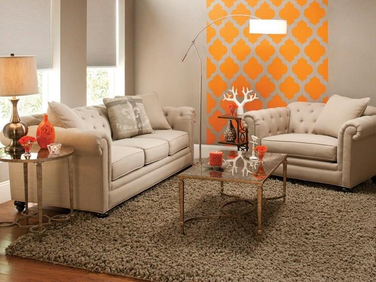 Colores de pintura 50 ideas para el sal n - Combinar color naranja decoracion ...