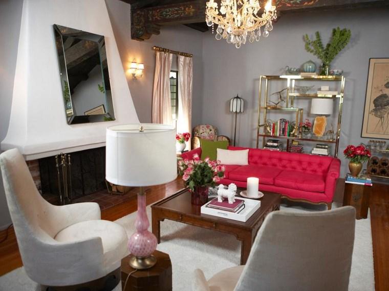 Colores de pintura 50 ideas para el sal n - Sofa gris como pintar las paredes ...