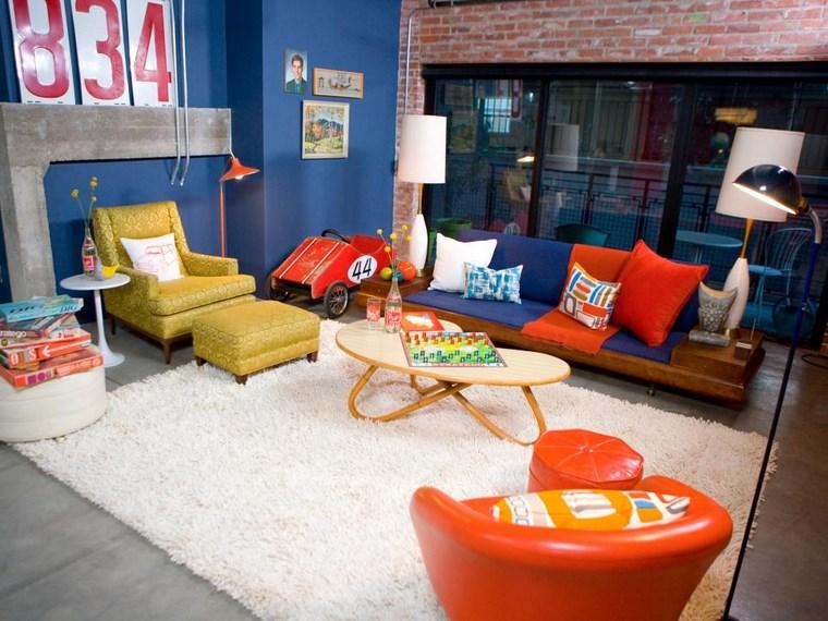colores pintura salon muebles colores llamativos ideas