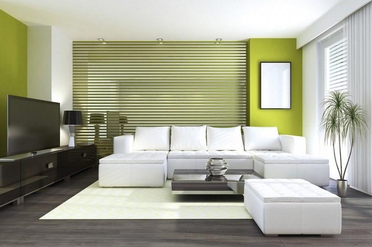 colores pintura salon verde claro blanco ideas