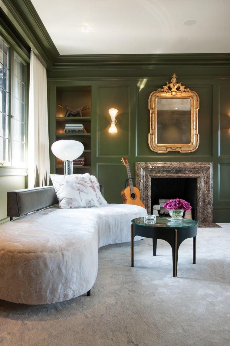 Colores de pintura 50 ideas para el sal n - Color salon muebles oscuros ...