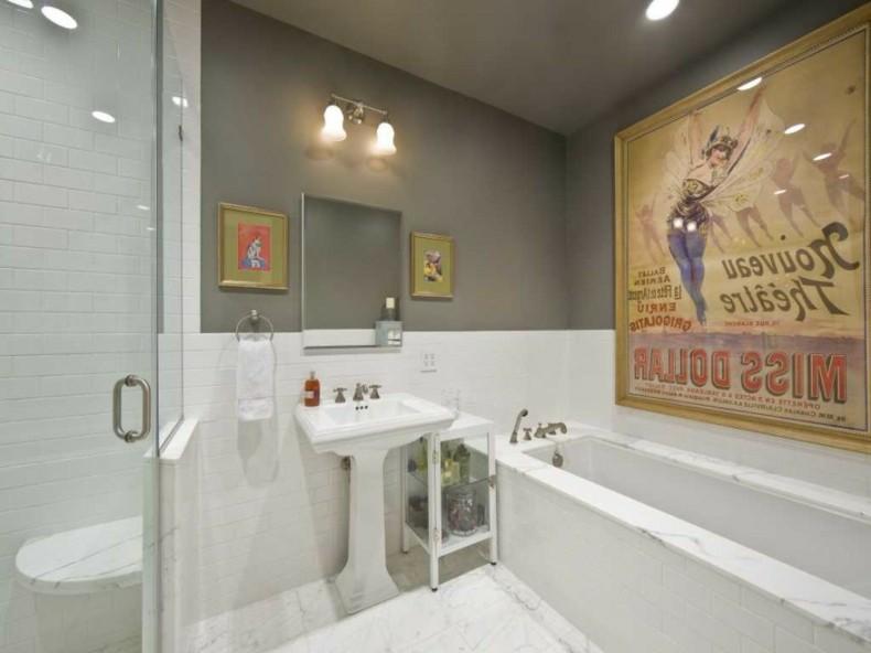 colores modernos cuarto baño gris