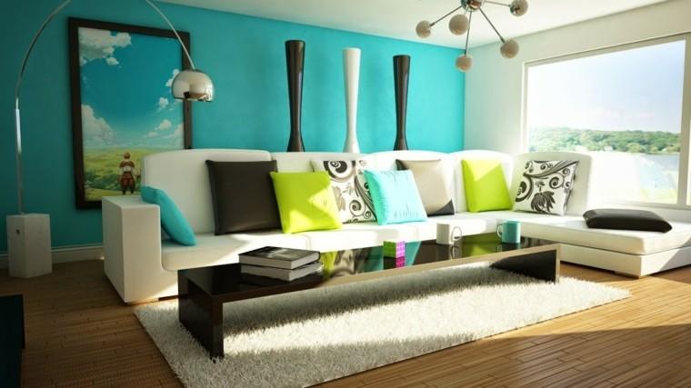 colores pintar salon sofa blanca ideas