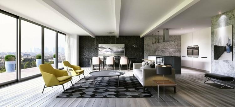 colores para pintar una casa alfombra negro