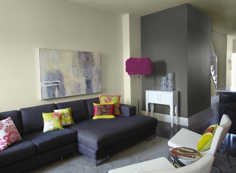colores para salones modernos gris