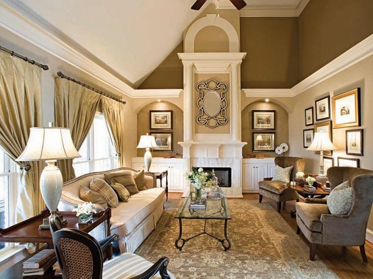 colores pintar salon pared elegante oro ideas