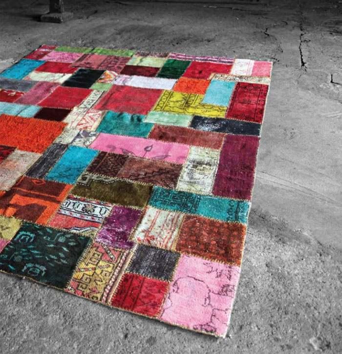 alfombras vintage diseño ideas decorado grises