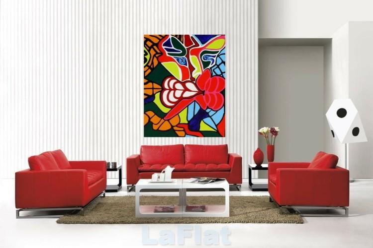 colorido estilo casa salones diseño cuadro