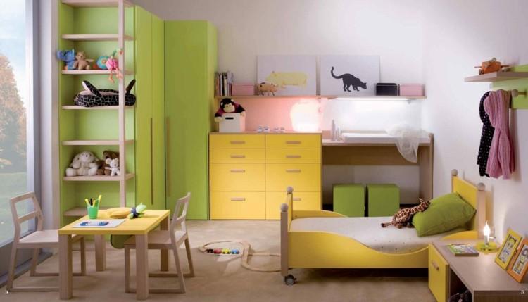 colorido variante infantil maderas verde