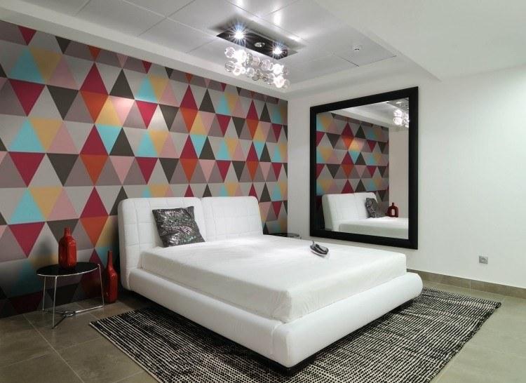 coloridos paredes decorado rombos blanco