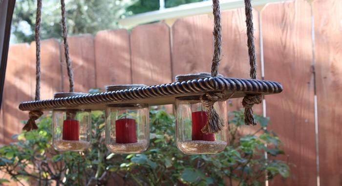 columpio velas candelabro adornos jardin ideas