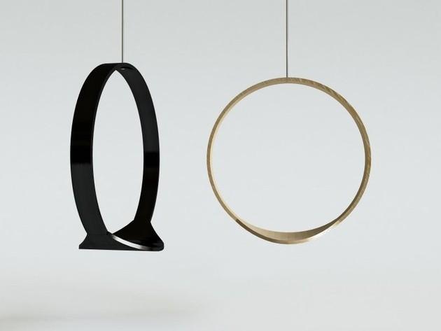 columpios swing color negro madera