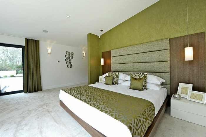 combinacion blanco verde dormitorio Jigsaw Interior Architecture ideas
