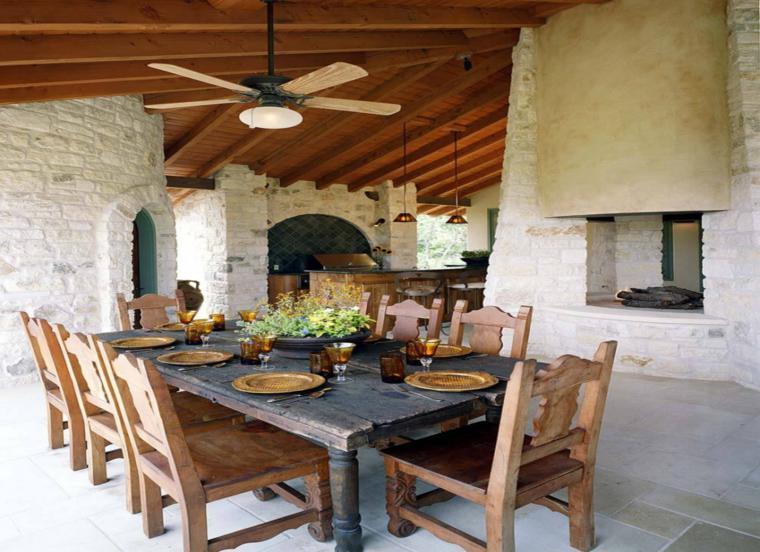 Chimeneas rusticas modernizadas 38 modelos geniales - Cosas rusticas para decorar casa ...