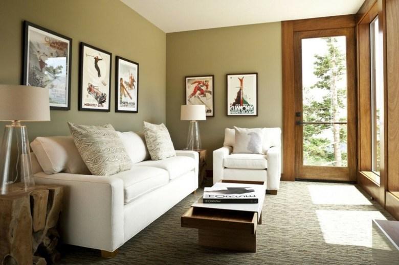 como decorar un salon pequeño color verde