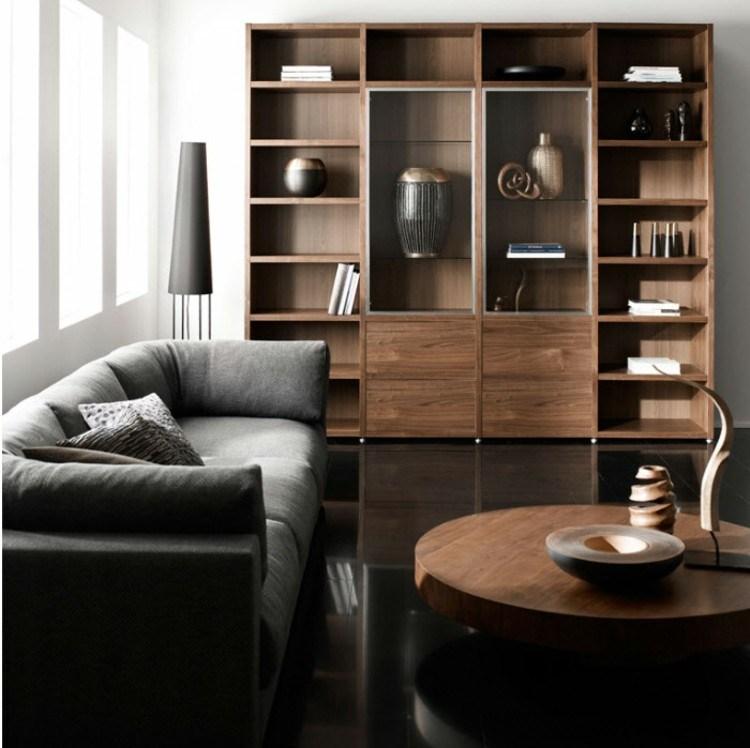 concepto diseño sala estar madera